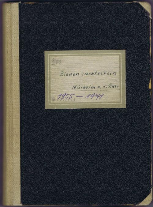 Umschlag: Bienenzuchtverein Mülheim a. d. Ruhr, 1955 - 1971